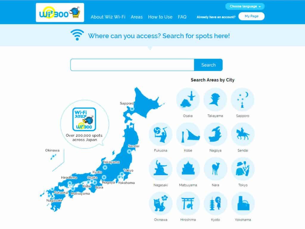 wifi japon