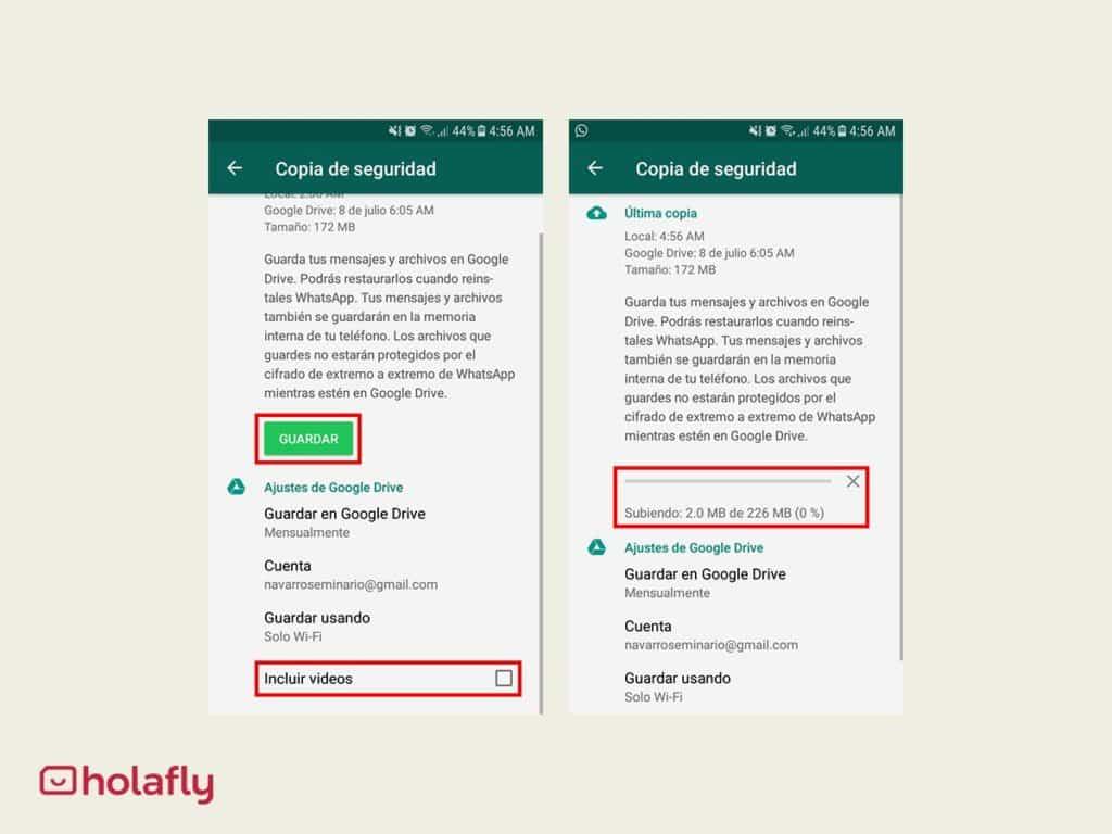 mantener whatsapp copia seguridad 2