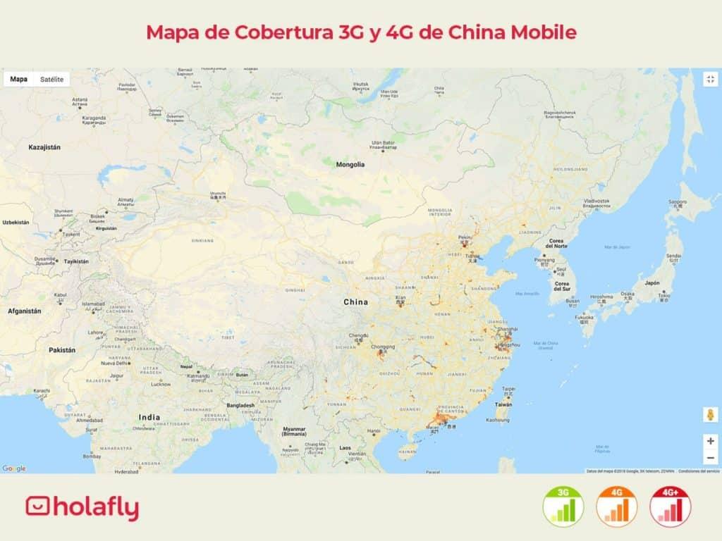 internet china con China Mobile cobertura