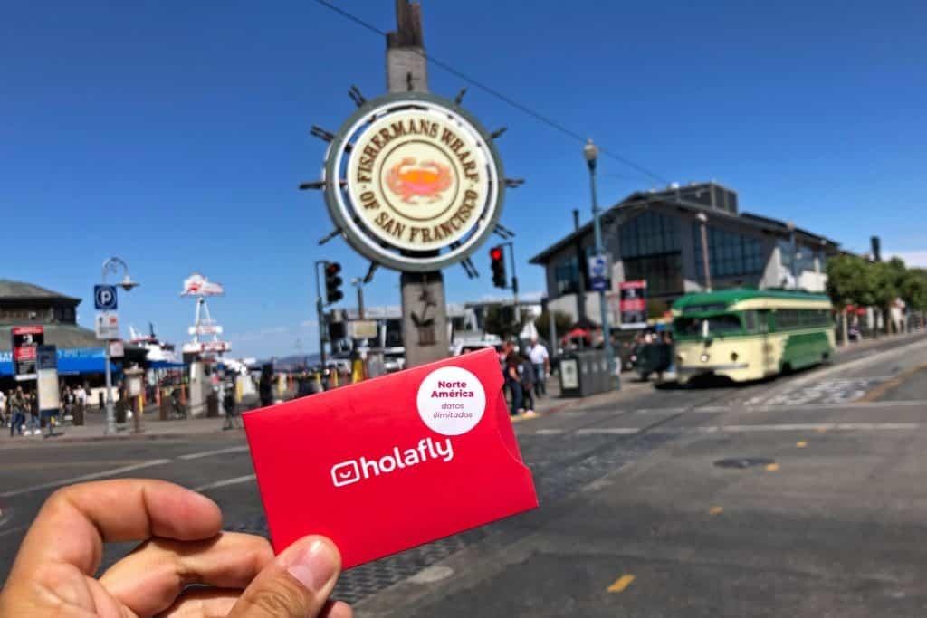 Internet en San Francisco, EEUU con una tarjeta SIM.