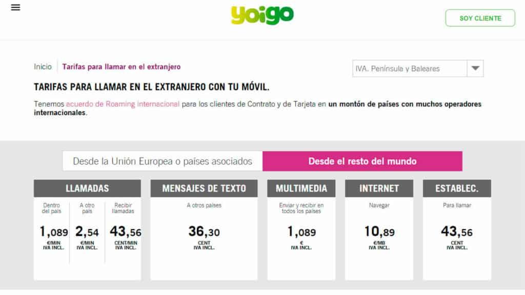 roaming canada yoigo