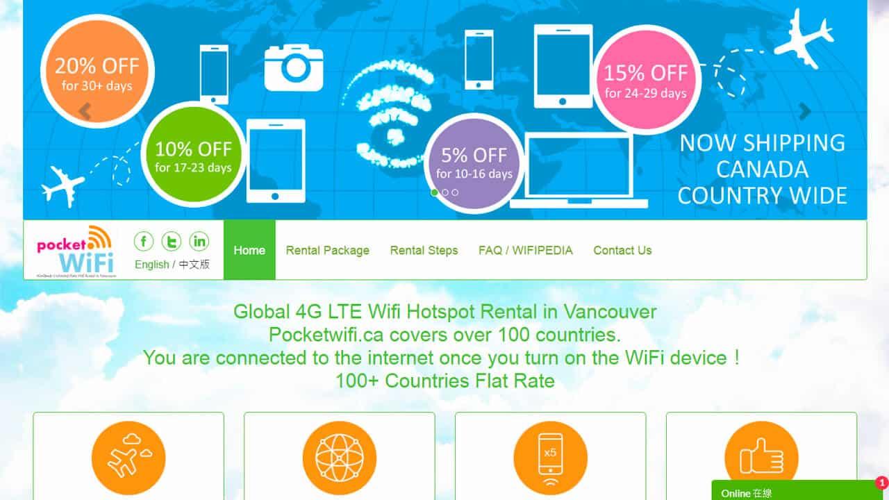 roaming norteamerica con pocket wifi