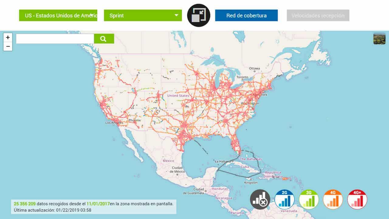 roaming norteamerica con sprin