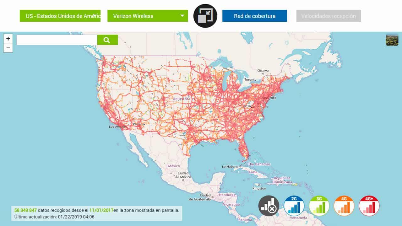 roaming norteamerica con verizon