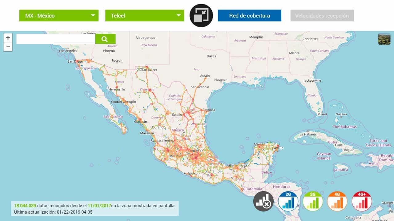 roaming norteamerica mexico con telcel