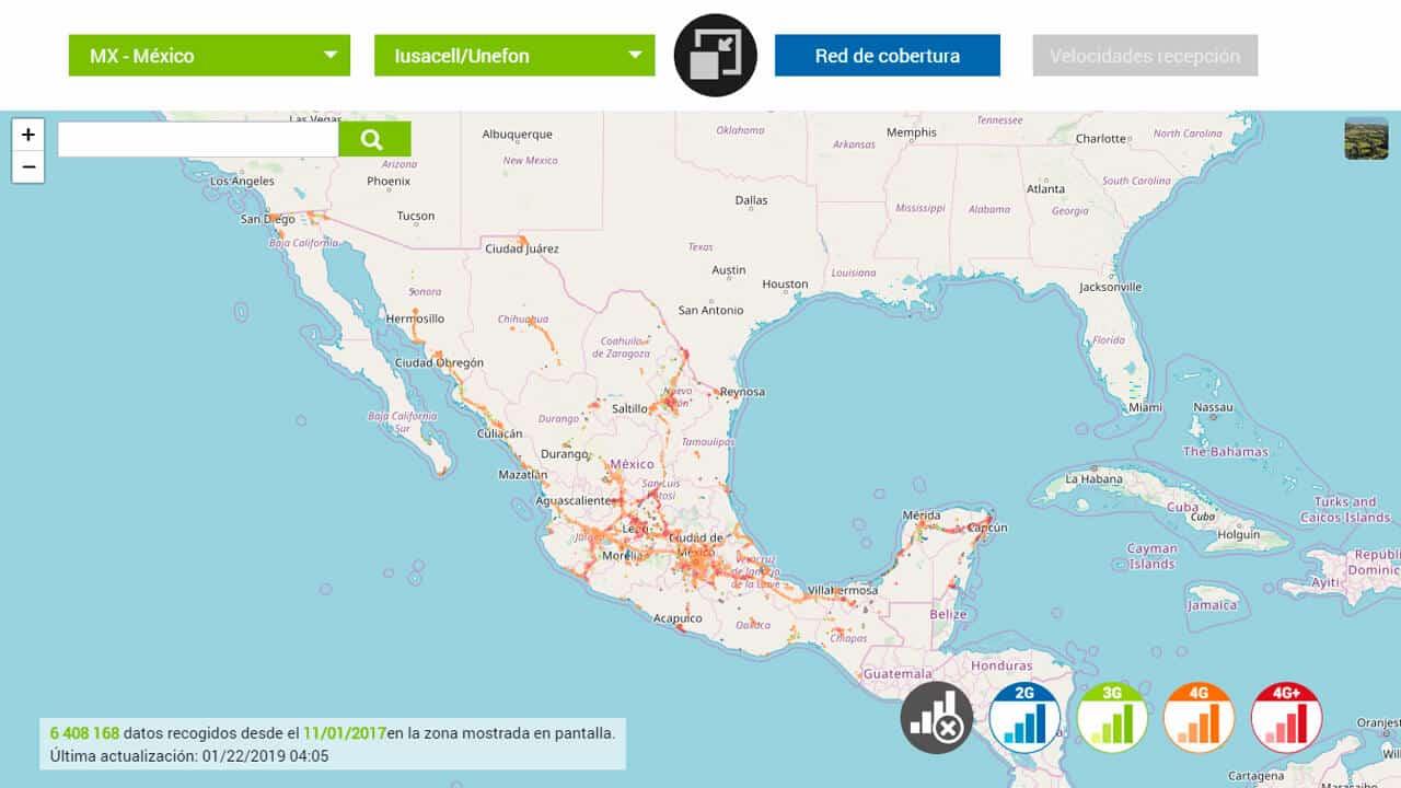 roaming norteamerica en mexico con unefon