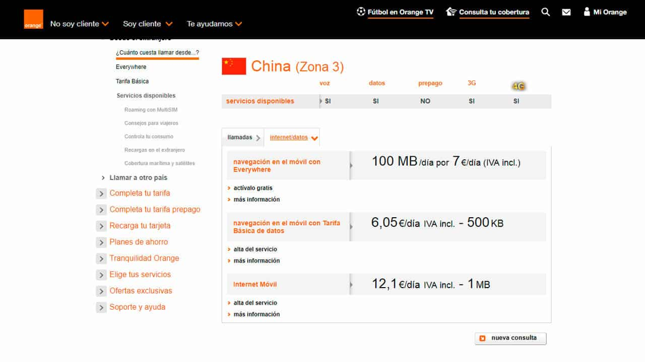 roaming china con orange