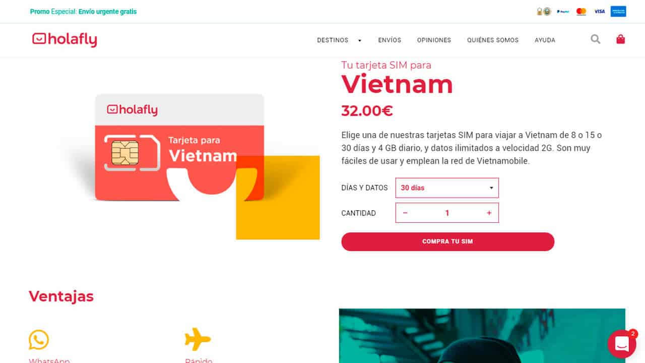 roaming vietnam con holafly