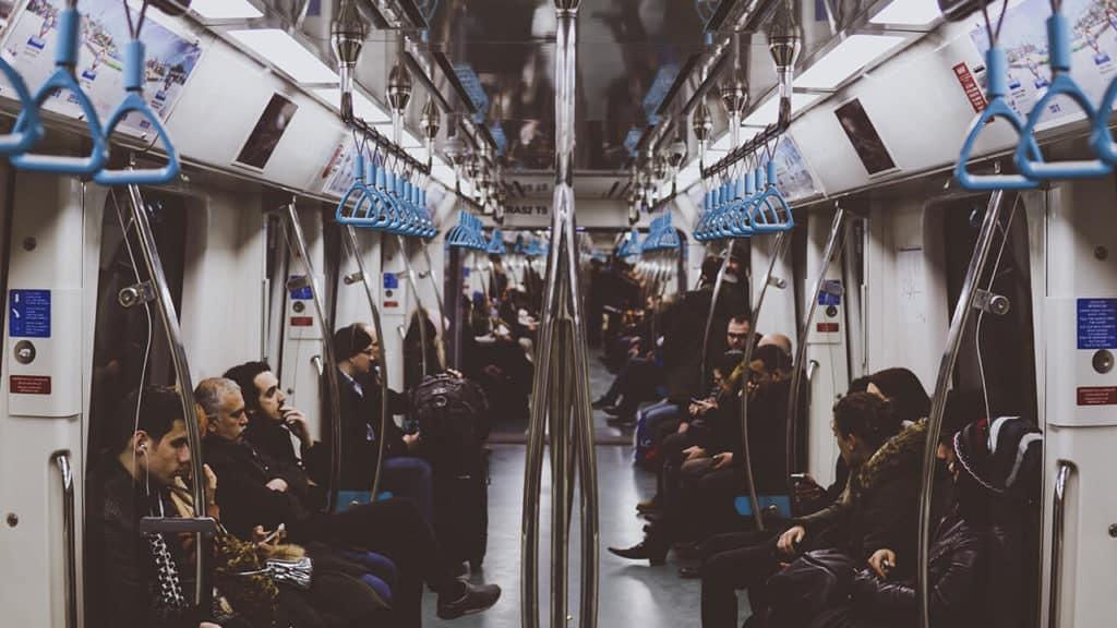 Recorrido en el Metro
