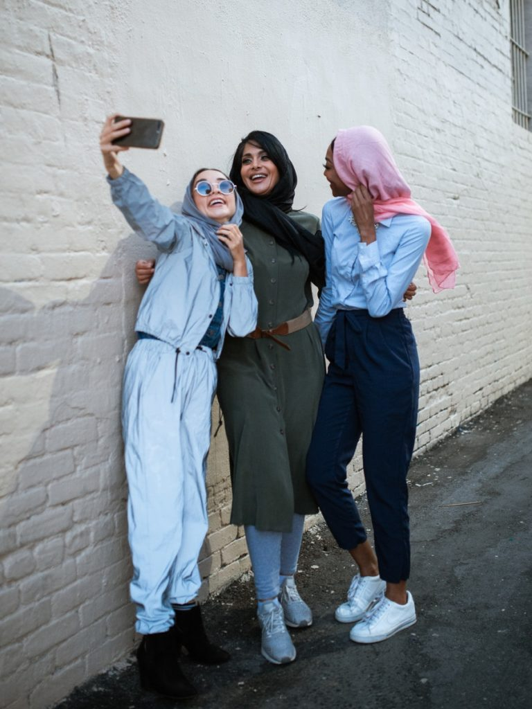selfie con ropa llevada en la maleta a Turquía