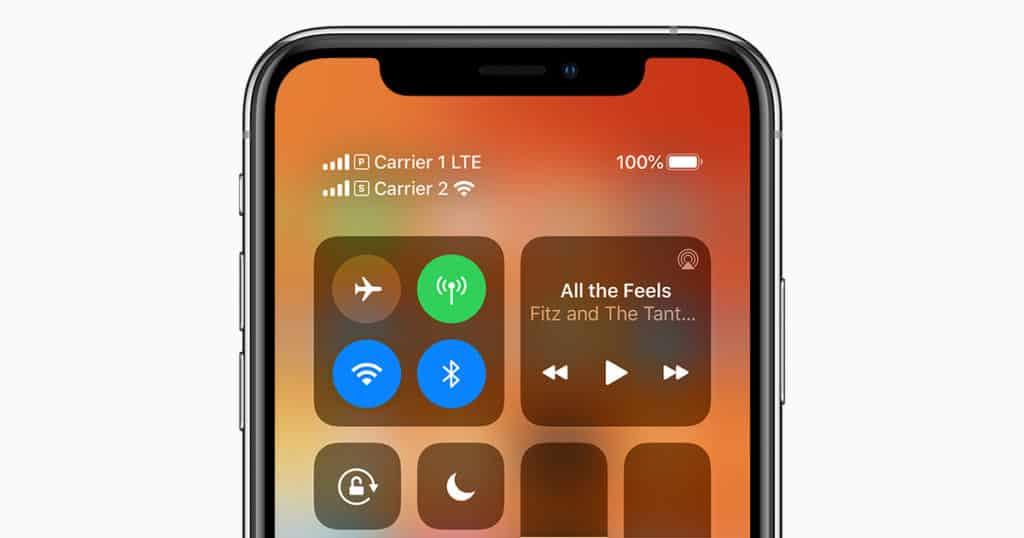 eSIM funcionando en un iPhone