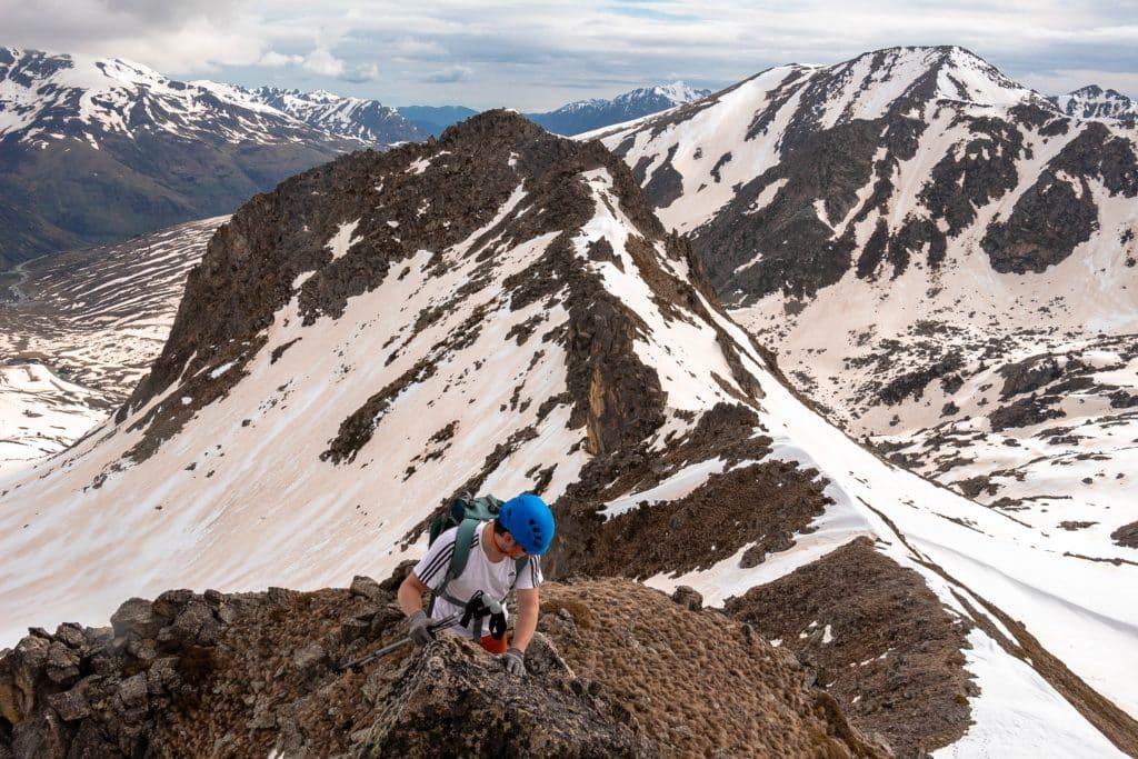 Escalando en las montañas de Andorra