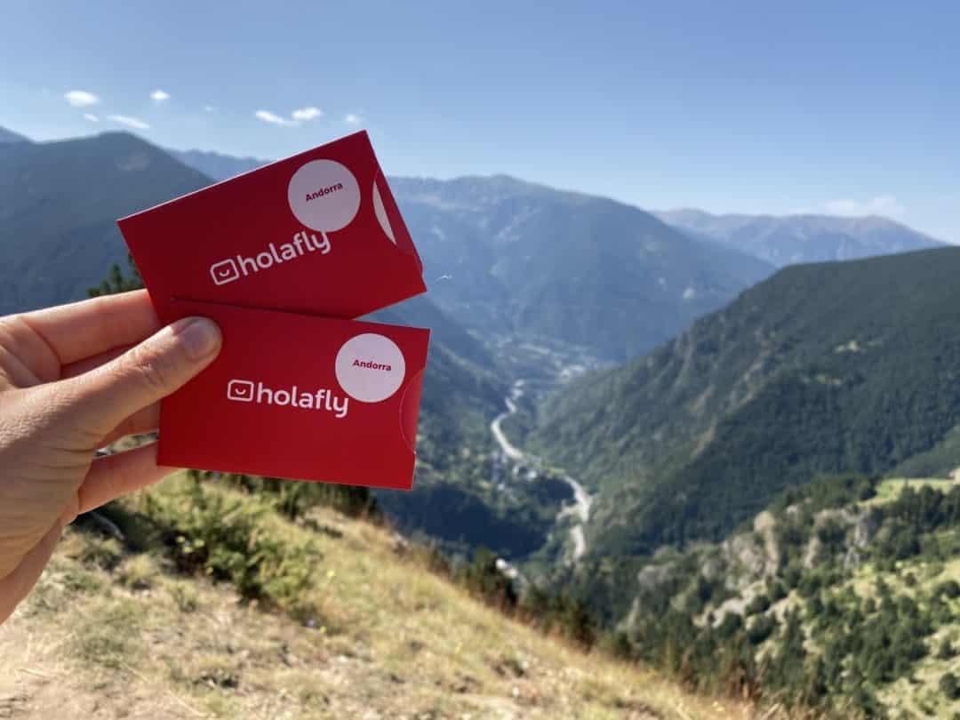 Tarjeta SIM Holafly en el Mirador de Quer (Andorra)