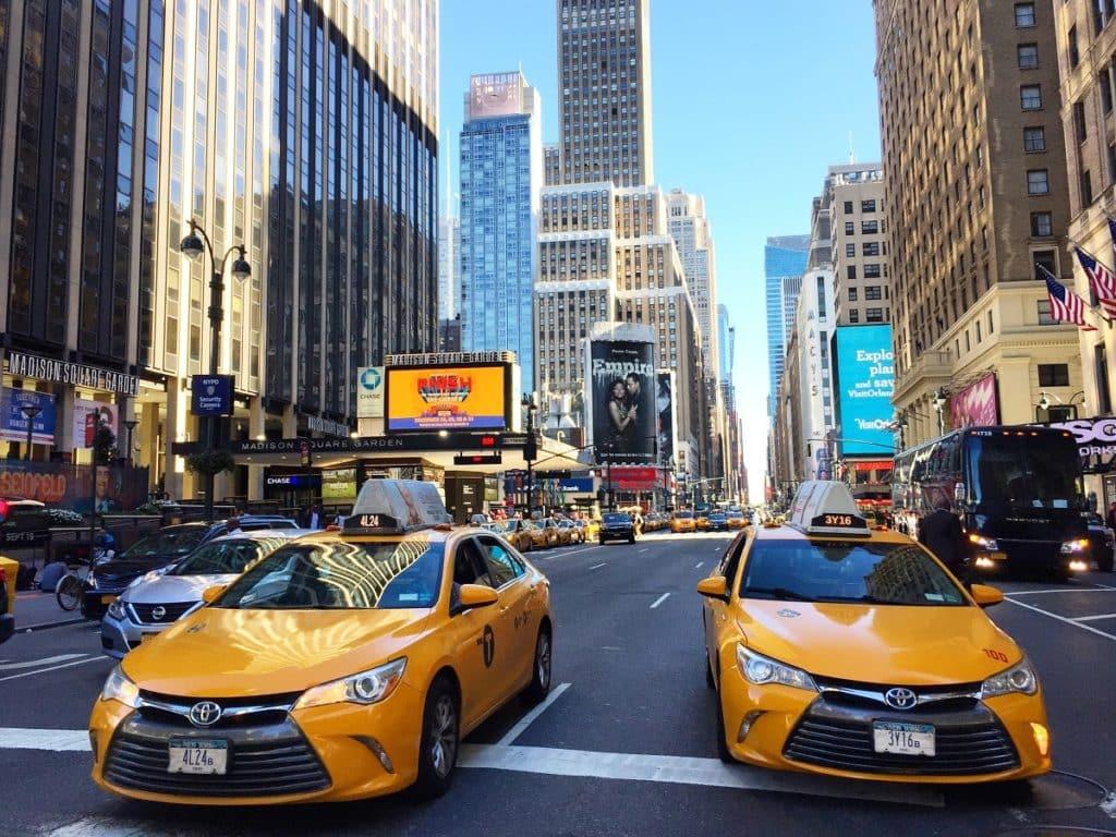 taxi para viajar en nueva york