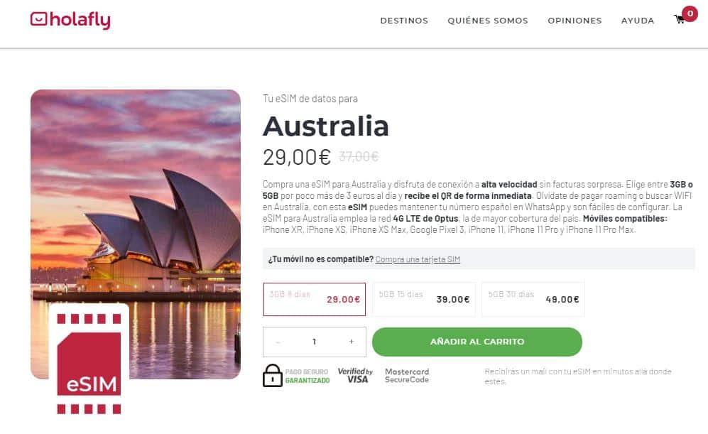 esim internet en el extranjero en australia holafly