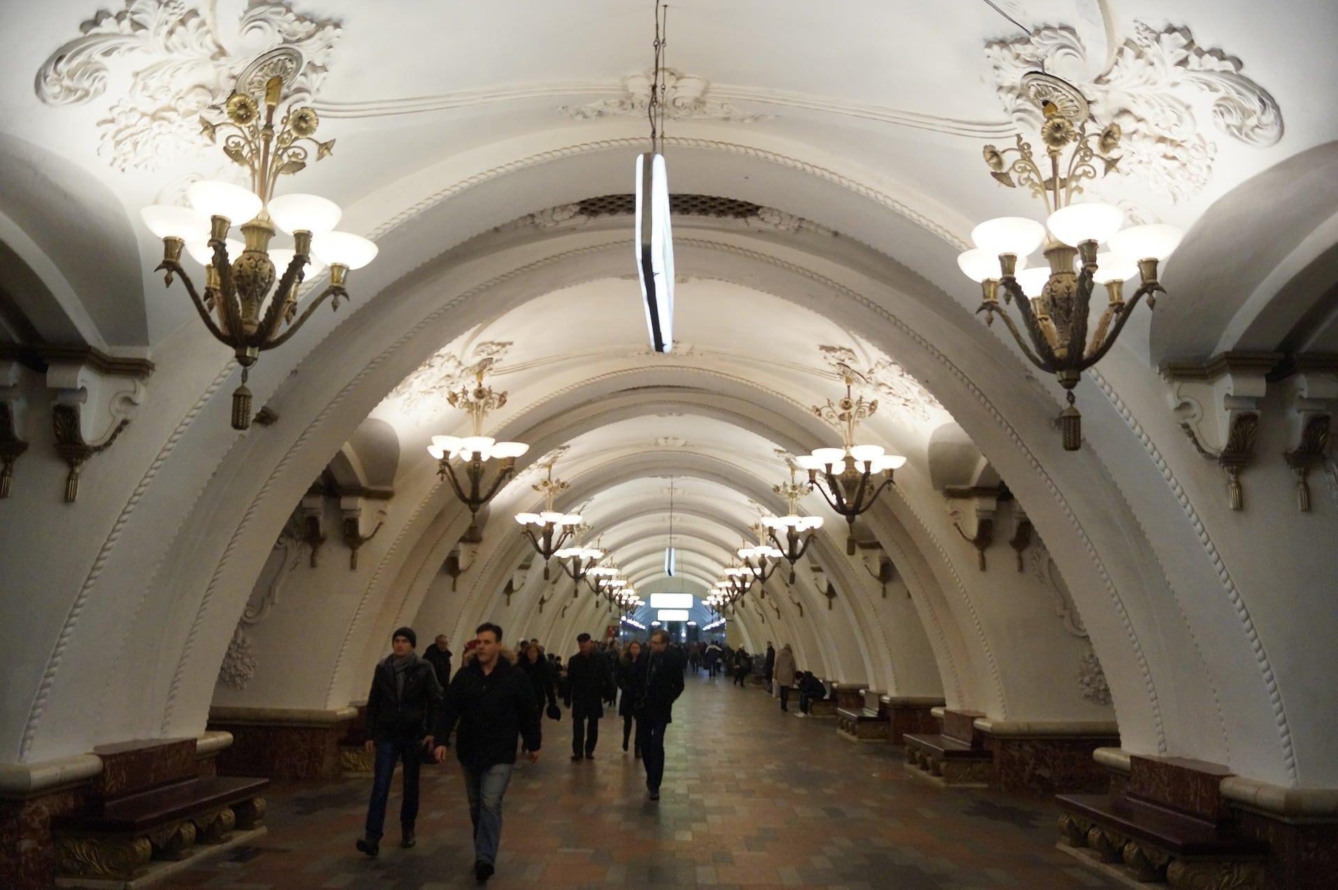 Estación del Metro de Moscú, Rusia, qué hacer en 3 días