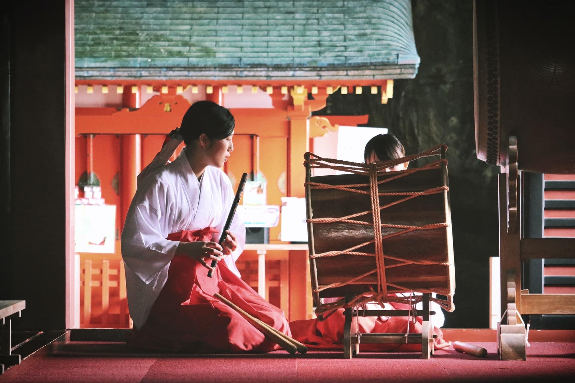 El santuario Udo Jingu en Nichinan, ciudad japonesa
