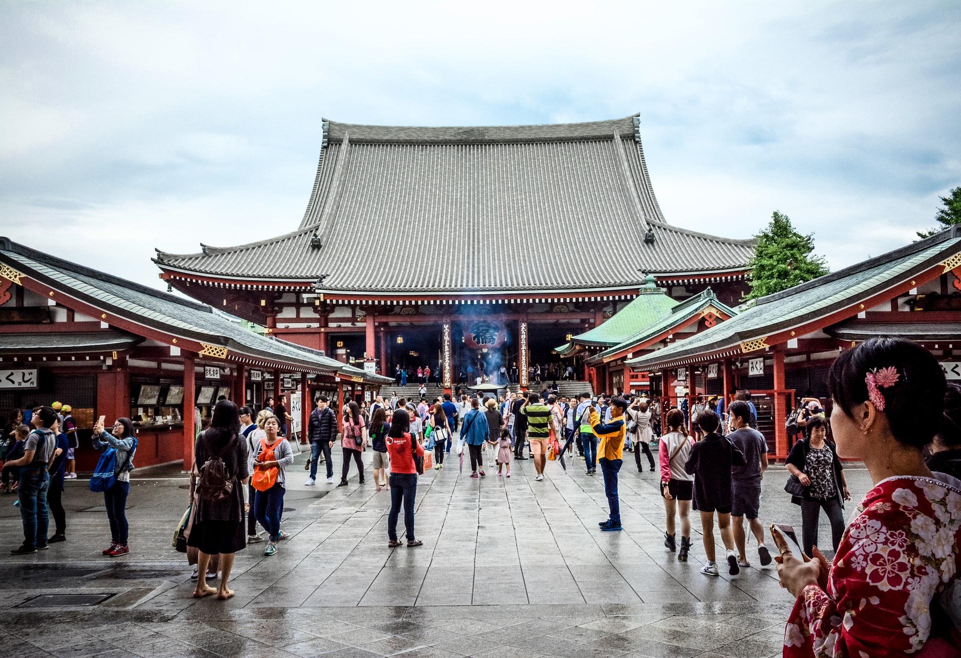 Templo Sensō-ji en Asakusa, Tokio, ciudades de Japón