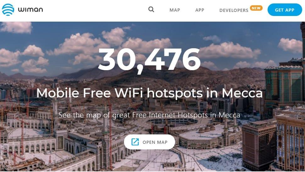 Wiman, buscador de puntos wifi gratuitos en Arabia