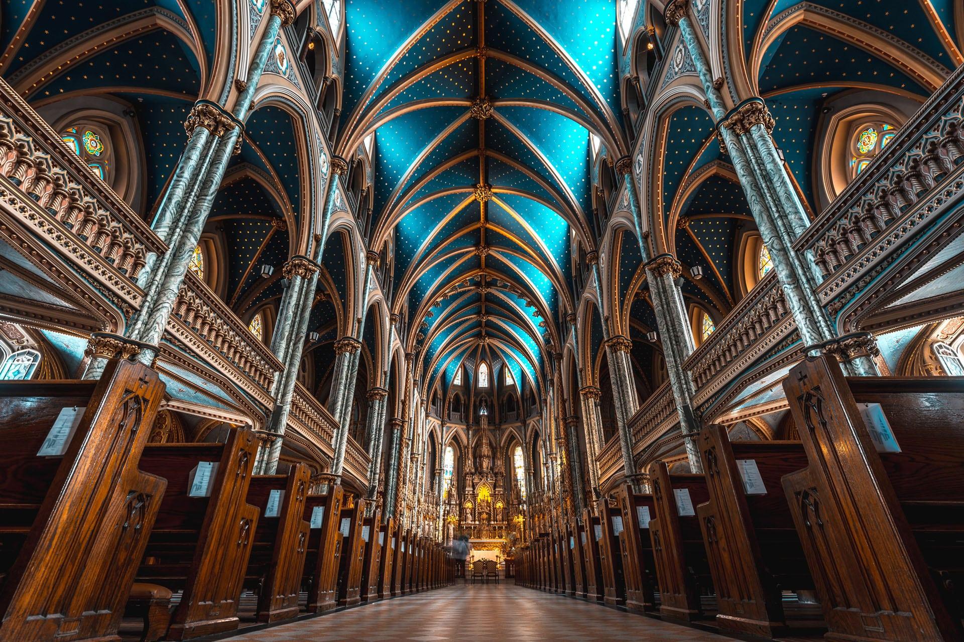 Catedral de Notre Dame en Ottawa, ciudades importantes de Canadá