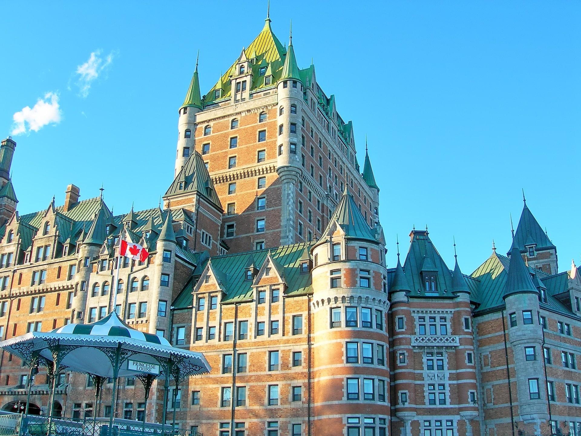 Chateau Frontenac en Quebec, ciudades bonitas de Canadá