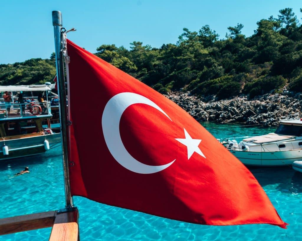 Viajar a Turquía, visado, bandera