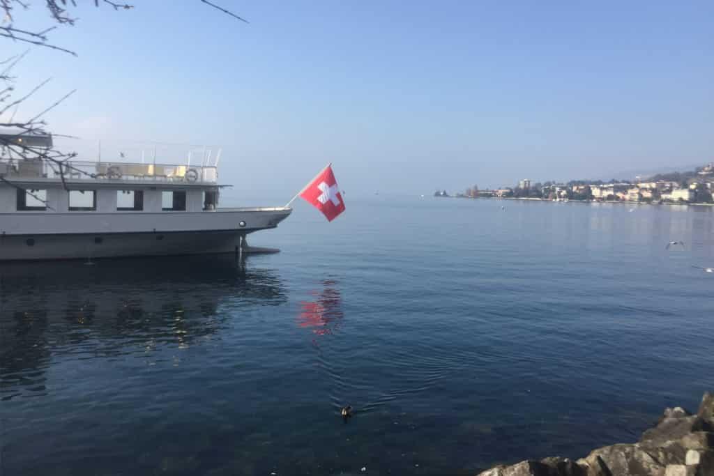 Lago Leman en Montreux, Suiza