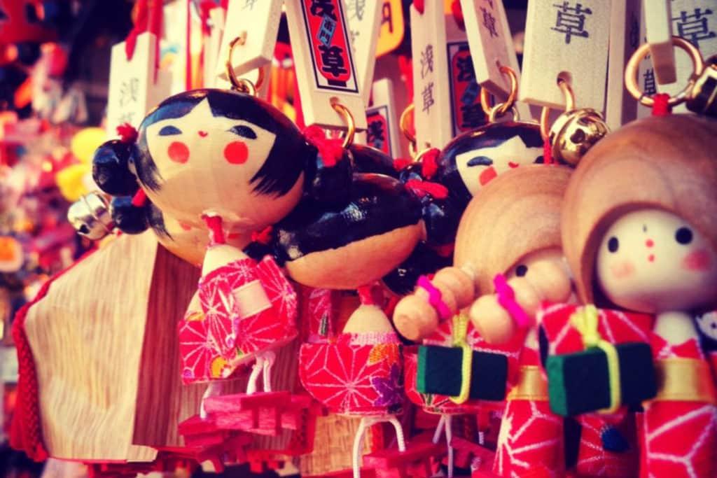 Marionetas del templo Sensō-ji en Asakusa, que comprar Japón