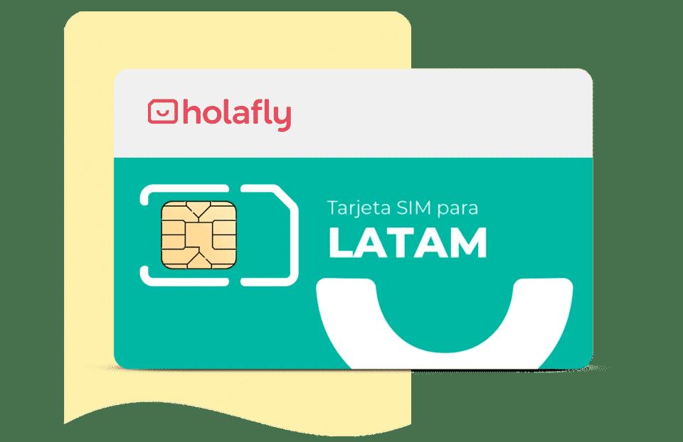 tarjeta sim de datos internacional América Latina Multipaís de Holafly