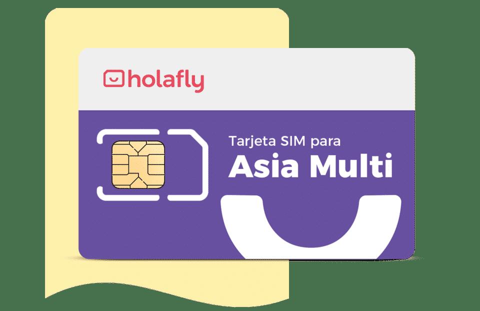 Tarjeta sim de datos internacional Asia Multipaís de Holafly