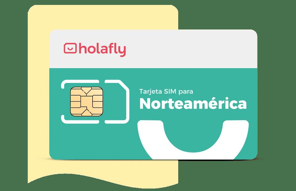 Tarjeta sim de datos internacional Norteamérica de Holafly
