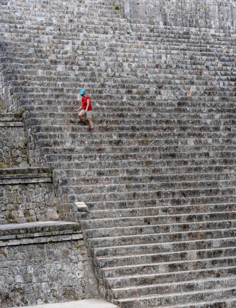 Las escalinatas de Kukulkán en Chichen Itza