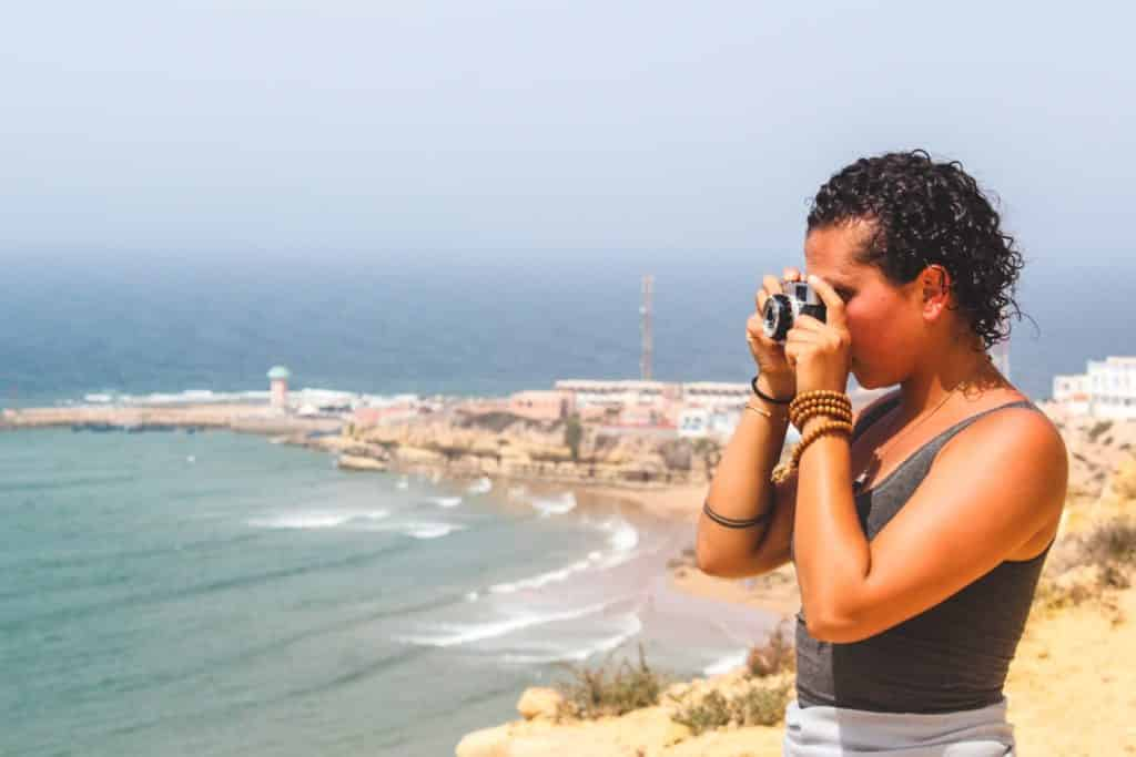 Playa Imsouane en Agadir, Marruecos.