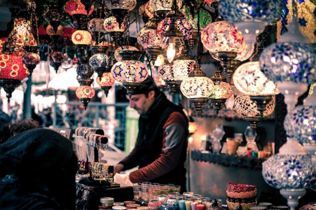 Tienda de Lamparas. Estambul, Turquía.