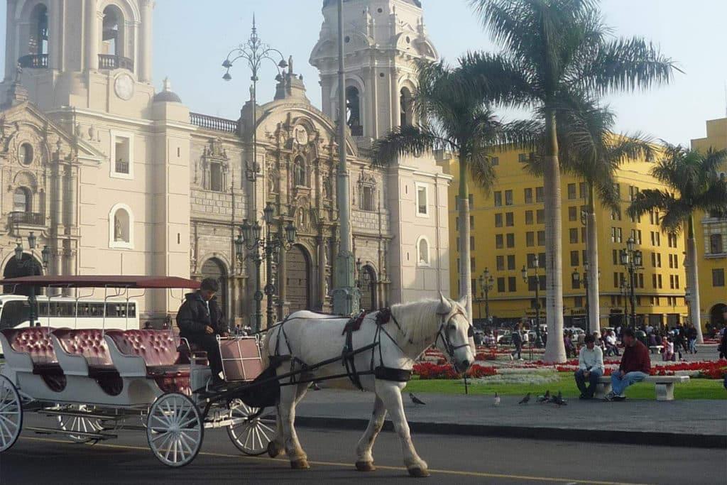 Catedral en la Plaza de de Armas de Lima, que ver en Perú