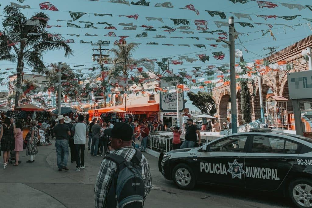 Policia Municipal en Tijuana México