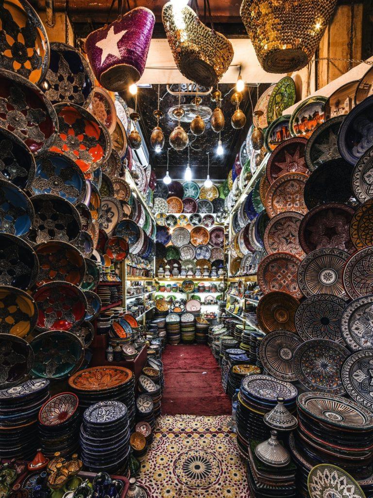 Ceramica hecha en Fez, marruecos