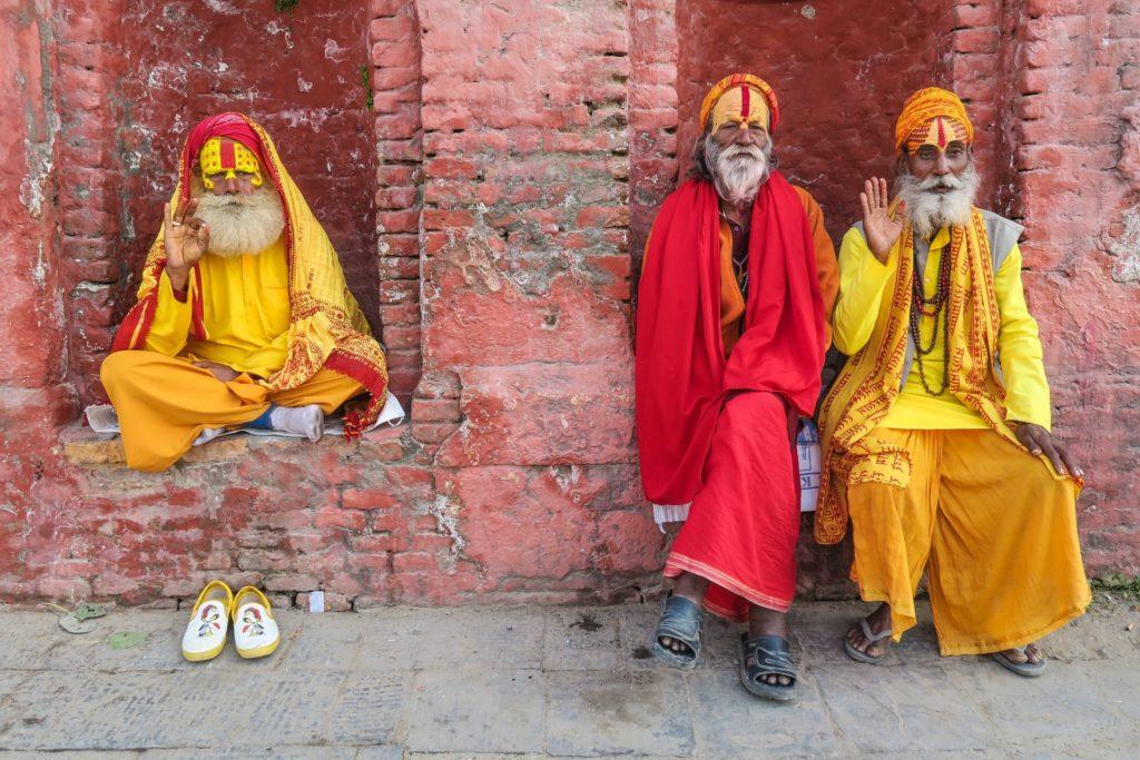 Sadhus at Pashupatinath, Kathmandu, Nepal.