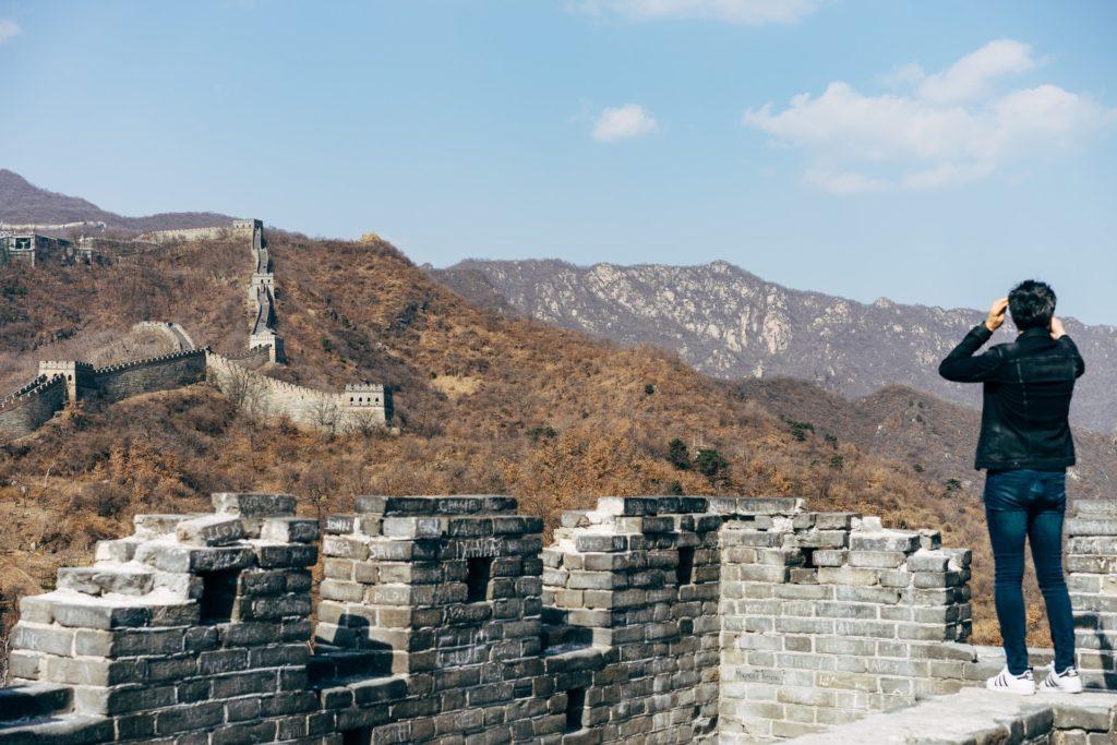 Panorama de la muralla China para fotos