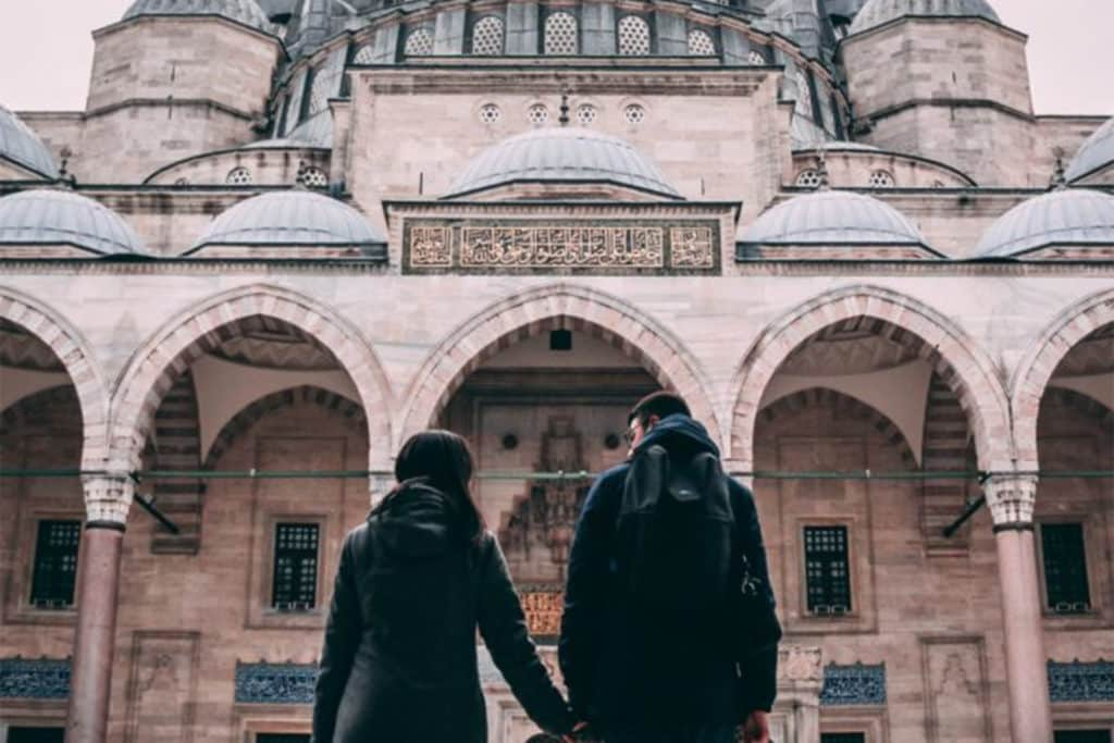 Pareja en Estambul. Turquia.