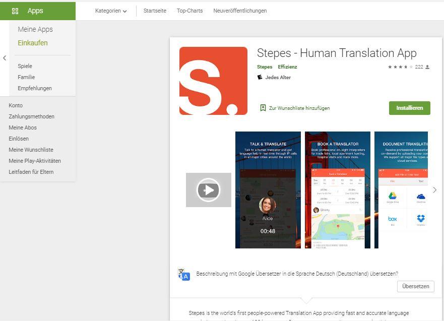 Stepes- Übersetzer