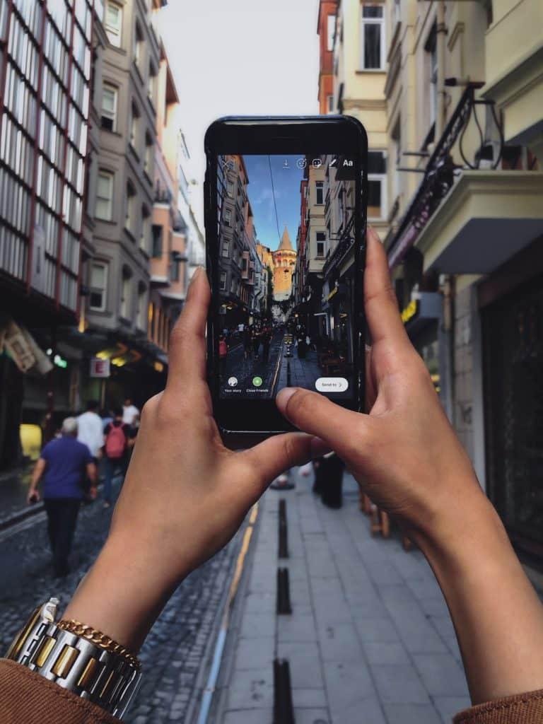 benutze das Telefon in der Türkei