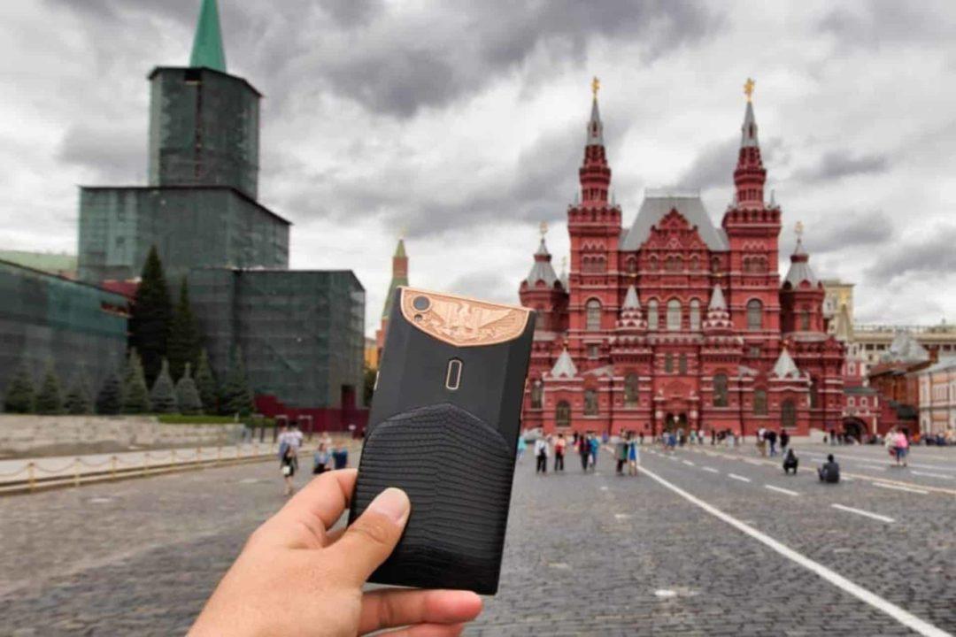 Roter Platz in Russland Handy mit Internet von Holalfy