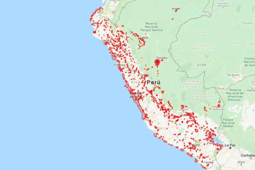 Karte des Empfangs von Claro