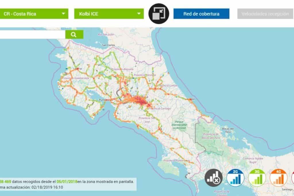 Internet in Costa Rica Kolbi