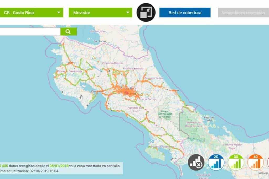 Internet Costa Rica Netzabdeckung Movistar