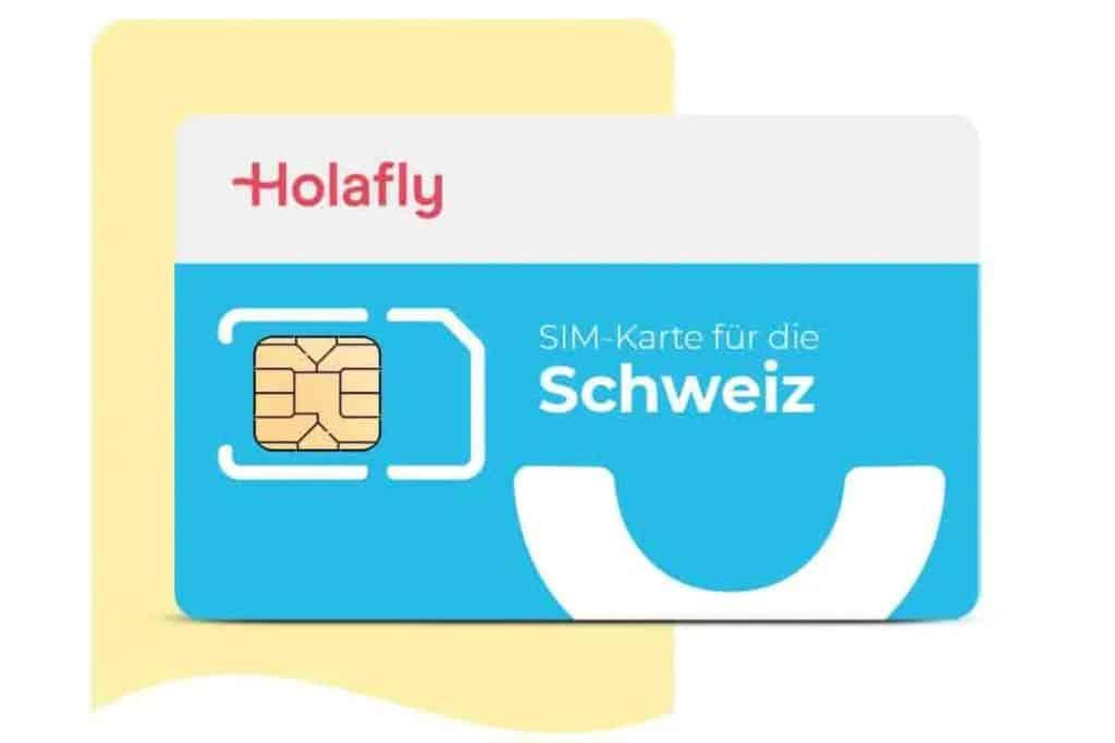 SIM Karte Schweiz von Holalfy für Internet in der Schweiz ohne Roaming.