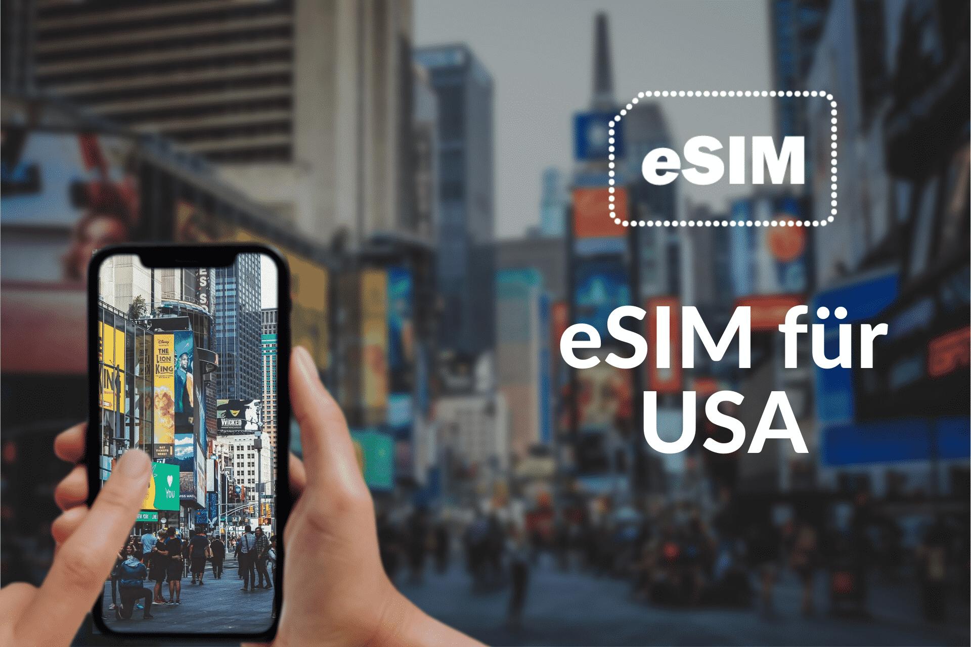 Internet mit der eSIM USA von Holafly