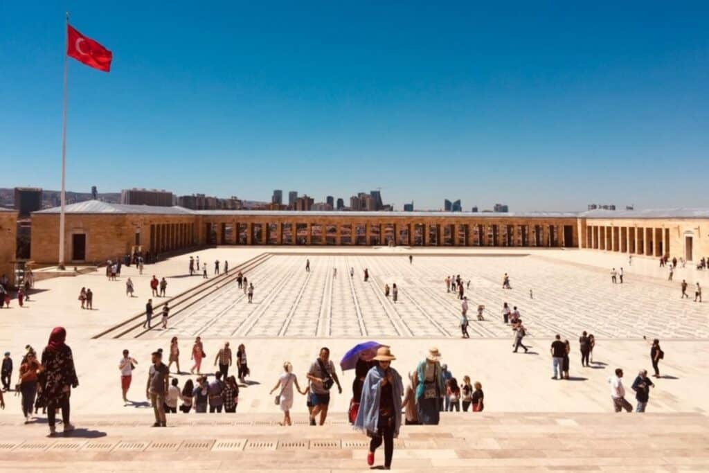 Platz in Ankara, Türkei