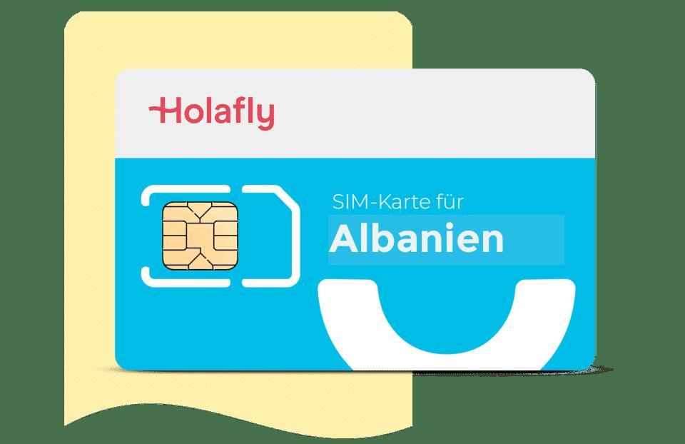 SIM Karte Albanien Holafly